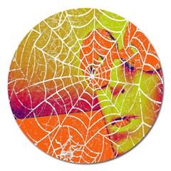 Orange Guy Spider Web Magnet 5  (round) by Simbadda