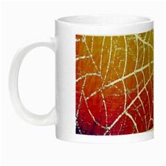 Orange Guy Spider Web Night Luminous Mugs by Simbadda
