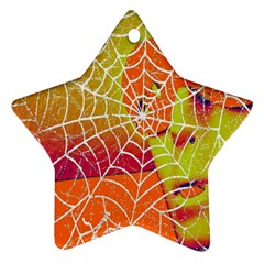 Orange Guy Spider Web Star Ornament (two Sides) by Simbadda