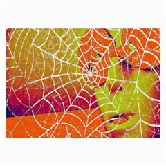 Orange Guy Spider Web Large Glasses Cloth by Simbadda