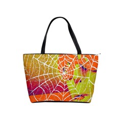 Orange Guy Spider Web Shoulder Handbags by Simbadda
