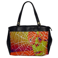 Orange Guy Spider Web Office Handbags by Simbadda