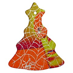 Orange Guy Spider Web Christmas Tree Ornament (two Sides) by Simbadda
