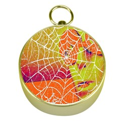 Orange Guy Spider Web Gold Compasses by Simbadda