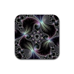 Beautiful Curves Rubber Square Coaster (4 Pack)  by Simbadda
