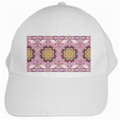 Floral Pattern Seamless Wallpaper White Cap by Simbadda