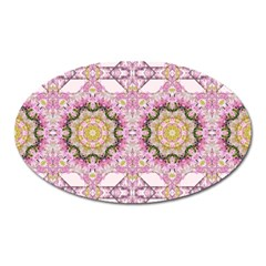 Floral Pattern Seamless Wallpaper Oval Magnet by Simbadda