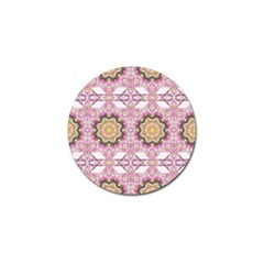 Floral Pattern Seamless Wallpaper Golf Ball Marker by Simbadda