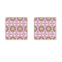 Floral Pattern Seamless Wallpaper Cufflinks (square) by Simbadda