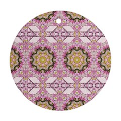 Floral Pattern Seamless Wallpaper Round Ornament (two Sides) by Simbadda