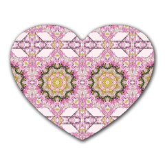 Floral Pattern Seamless Wallpaper Heart Mousepads by Simbadda