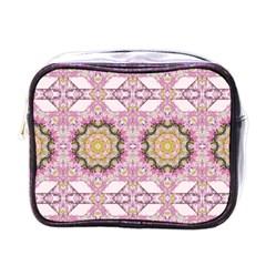 Floral Pattern Seamless Wallpaper Mini Toiletries Bags by Simbadda