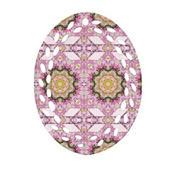 Floral Pattern Seamless Wallpaper Oval Filigree Ornament (two Sides) by Simbadda