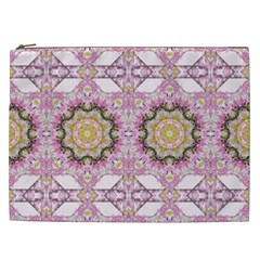 Floral Pattern Seamless Wallpaper Cosmetic Bag (xxl)  by Simbadda