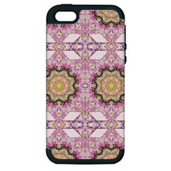 Floral Pattern Seamless Wallpaper Apple Iphone 5 Hardshell Case (pc+silicone) by Simbadda