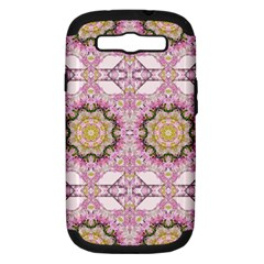 Floral Pattern Seamless Wallpaper Samsung Galaxy S III Hardshell Case (PC+Silicone)