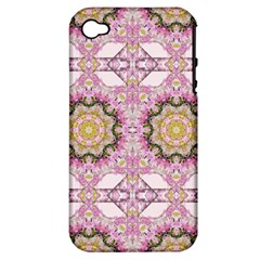 Floral Pattern Seamless Wallpaper Apple Iphone 4/4s Hardshell Case (pc+silicone) by Simbadda