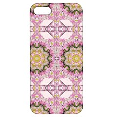 Floral Pattern Seamless Wallpaper Apple Iphone 5 Hardshell Case With Stand by Simbadda