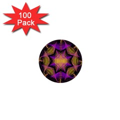 Pattern Design Geometric Decoration 1  Mini Buttons (100 Pack)  by Simbadda