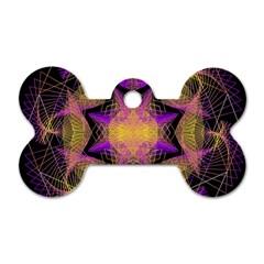 Pattern Design Geometric Decoration Dog Tag Bone (two Sides) by Simbadda