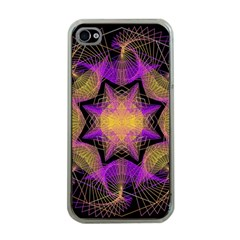 Pattern Design Geometric Decoration Apple Iphone 4 Case (clear) by Simbadda
