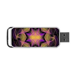 Pattern Design Geometric Decoration Portable Usb Flash (one Side) by Simbadda