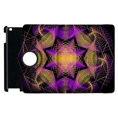 Pattern Design Geometric Decoration Apple Ipad 2 Flip 360 Case by Simbadda