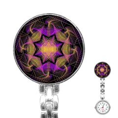 Pattern Design Geometric Decoration Stainless Steel Nurses Watch by Simbadda