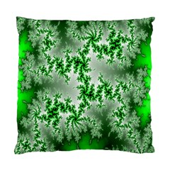 Green Fractal Background Standard Cushion Case (one Side) by Simbadda