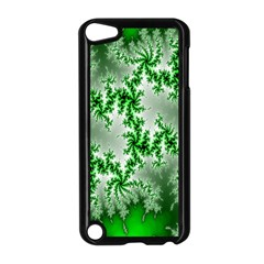 Green Fractal Background Apple Ipod Touch 5 Case (black) by Simbadda