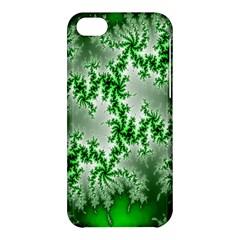 Green Fractal Background Apple Iphone 5c Hardshell Case by Simbadda