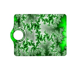Green Fractal Background Kindle Fire Hd (2013) Flip 360 Case by Simbadda