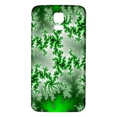 Green Fractal Background Samsung Galaxy S5 Back Case (white) by Simbadda