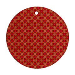 Abstract Seamless Floral Pattern Round Ornament (two Sides) by Simbadda