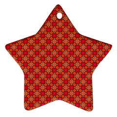 Abstract Seamless Floral Pattern Star Ornament (two Sides) by Simbadda