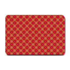 Abstract Seamless Floral Pattern Small Doormat  by Simbadda