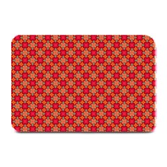 Abstract Seamless Floral Pattern Plate Mats by Simbadda