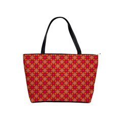 Abstract Seamless Floral Pattern Shoulder Handbags by Simbadda