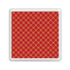Abstract Seamless Floral Pattern Memory Card Reader (square)  by Simbadda