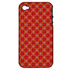 Abstract Seamless Floral Pattern Apple Iphone 4/4s Hardshell Case (pc+silicone) by Simbadda