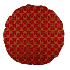 Abstract Seamless Floral Pattern Large 18  Premium Round Cushions by Simbadda