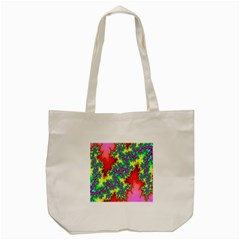 Colored Fractal Background Tote Bag (cream) by Simbadda