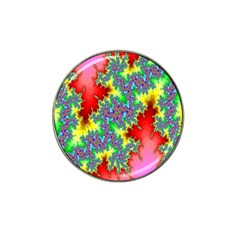 Colored Fractal Background Hat Clip Ball Marker (10 Pack) by Simbadda