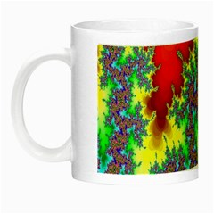 Colored Fractal Background Night Luminous Mugs by Simbadda