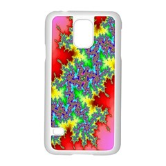 Colored Fractal Background Samsung Galaxy S5 Case (white) by Simbadda