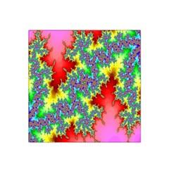 Colored Fractal Background Satin Bandana Scarf by Simbadda