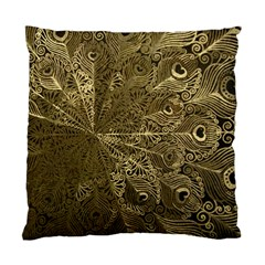 Peacock Metal Tray Standard Cushion Case (one Side) by Simbadda