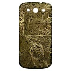 Peacock Metal Tray Samsung Galaxy S3 S Iii Classic Hardshell Back Case by Simbadda