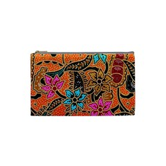 Colorful The Beautiful Of Art Indonesian Batik Pattern Cosmetic Bag (small)  by Simbadda