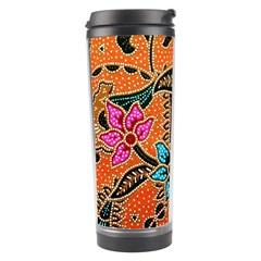 Colorful The Beautiful Of Art Indonesian Batik Pattern Travel Tumbler by Simbadda